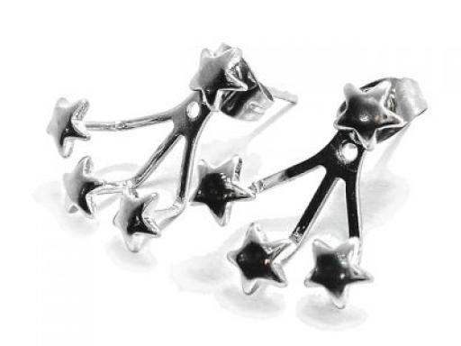 *OFERTA 50%* Aros colgantes abanicos con estrellas de acero quirúrgico