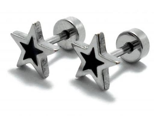 Aros estrella esmaltado de acero quirúrgico