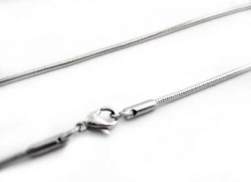 Cadena cola de ratón clapton 1.5mm 50cm de acero quirúrgico -OFERTA-