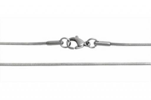 Cadena cola de ratón clapton 0.9mm 45cm de acero quirúrgico -OFERTA-