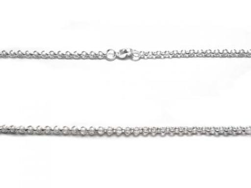 Cadena rolo 3mm 60cm de acero blanco -OFERTA-