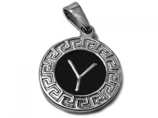 joyas-de-acero-quirurgico-316L-dijes-letra-Y-esmaltada-con-guarda-griega