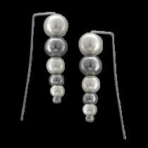 Aros trepadores perlas y bolitas degrade de acero quirúrgico