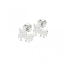 Pack de 6 Aros tipo abridor Unicornio de acero blanco