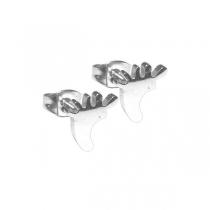 Aros piecitos de acero blanco