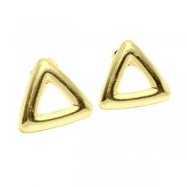 Aros triángulo calado 14mm de acero doré