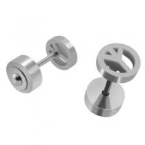 Pack x6 pares de abridores símbolo de la paz de acero quirúrgico