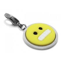 Dije emoji dientes con mosquetón de acero quirúrgico