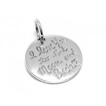 "Dije de Plata 925 ""I love you to the moon and bach"""