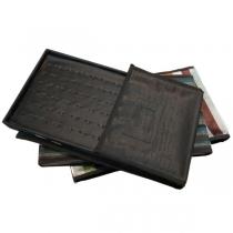 Paño bandeja exhibidora *USADO EN MUY BUEN ESTADO* para 72 anillos con fondo negro
