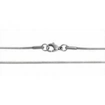 Pack de 100 cadenas cola de ratón clapton 0.9mm 45cm de acero quirúrgico -OFERTA-