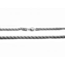 Cadena turbillon 6mm 45cm de acero blanco -OFERTA-