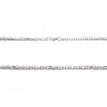 Pack de 10 Cadena espejito 3mm 60cm de acero blanco -OFERTA-
