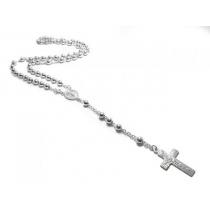 Cadena rosario bolitas 5mm 60cm de Plata 925