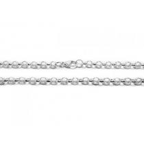 Pack x5 Cadena rolo 1.5mm 50cm de acero blanco
