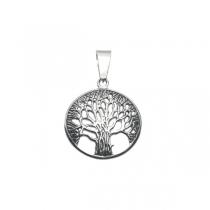 Dije árbol de la vida calado de acero quirúrgico
