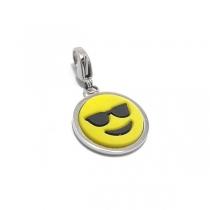 Dije emoji CON LENTES DE SOL con mosquetón de acero quirúrgico