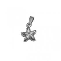 Dije estrella de mar de acero quirúrgico Alt: 18mm incl. argolla