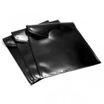 PACK x25 bolsas PVC con solapa 9cm x 9cm NEGRA