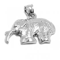 Dije elefante tramado de acero quirúrgico