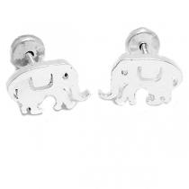 Aros tipo abridor elefante de acero blanco