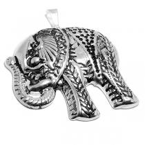 Maxi-dije elefante inflado y tramado de acero blanco