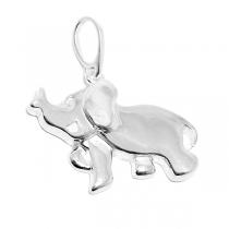 Dije de Plata elefante tramado