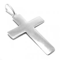 Dije de Plata cruz lisa