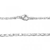 Cadena maim fina 45cm de acero blanco