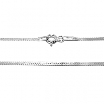 Cadena de Plata 925 aplanada 1.5mm 45cm