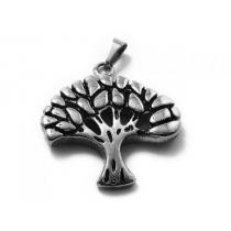 Dije árbol de la vida tramado de acero quirúrgico