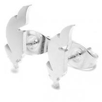 Aros pluma 12mm de acero blanco