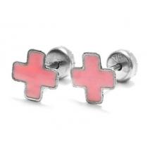 Abridores esmaltados cruz del equilibrio rosa de acero quirúrgico
