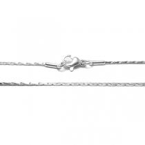 Cadena miranda 0.4mm 40cm de acero blanco