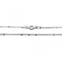 Cadena de Plata 925 rolo oval 1mm 45cm