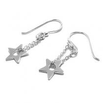 Aros de Plata 925 estrella colgante