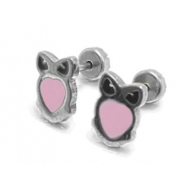 Abridores búho esmaltado rosa de acero quirúrgico