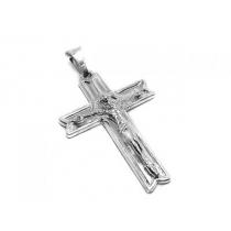 Dije de Plata 925 cruz tramada con cristo