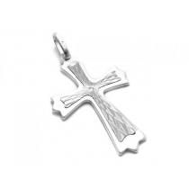 Dije de Plata 925 cruz tramada