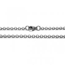 Cadena rolo 5mm 45cm de acero quirúrgico