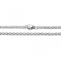 PACK x10 Cadena rolo 3mm 45cm de acero blanco