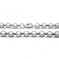 Cadena rolo 7mm 40cm de acero blanco
