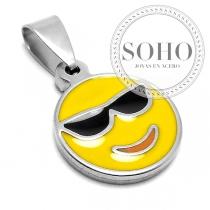Dije emoji gafas de acero quirúrgico SOHO
