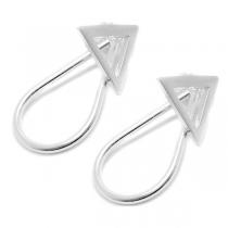 Aros de Plata 925 triangulo y gota colgante