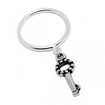 Anillo de Plata con llave colgante
