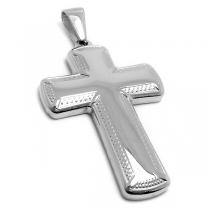 Dije cruz tramada de acero quirúrgico