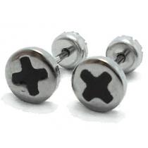 Abridores esmaltados cruz del equilibrio negra de acero quirúrgico