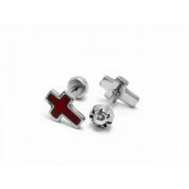 Abridores cruz esmaltados rojo de acero quirúrgico