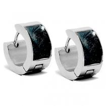PACK x12 Aros cubanos esmaltado negro de acero quirúrgico