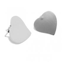 Aros de Plata 925 corazón liso 17mm